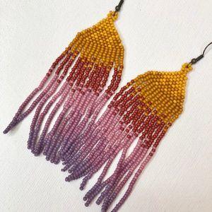 custom Jewelry - Sunset Inspired Earrings